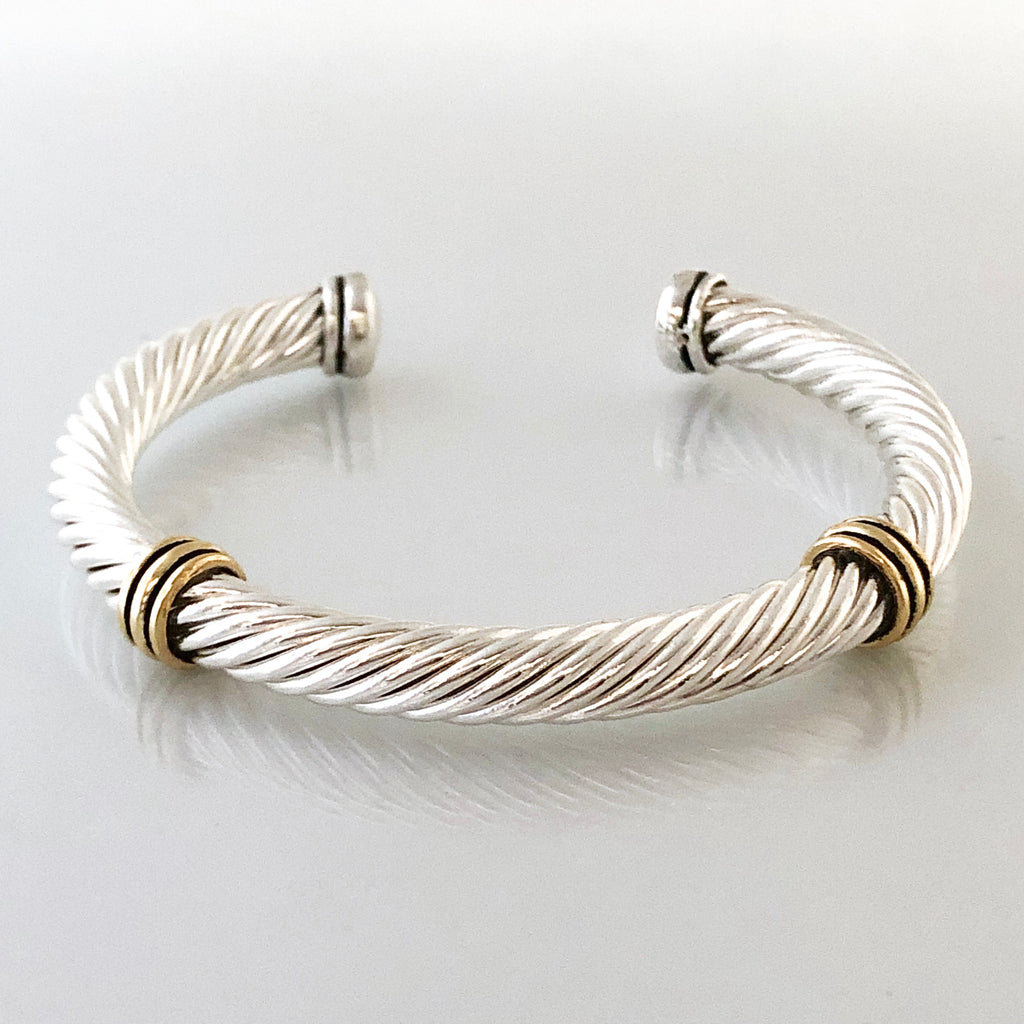 Stack It Up Bracelet Cuff- Twisted Wire