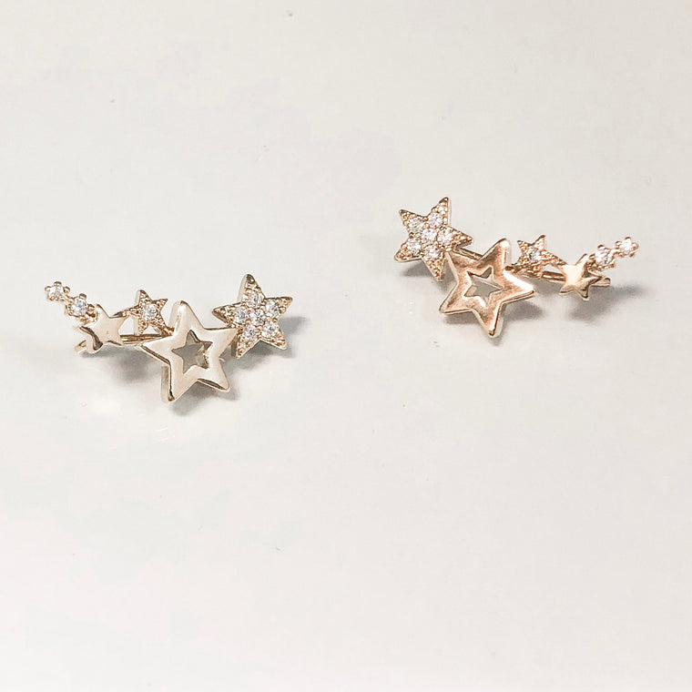 Estrella Ear Crawler Earrings- Gold