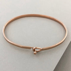 'Mind Over Matter' Dainty Bangle Bracelet-Rose Gold