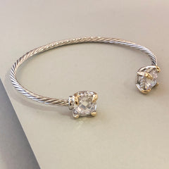 Stack It Up Bracelet Cuff- Crystal Ends