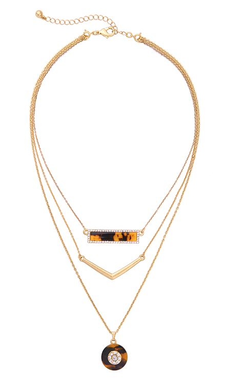 Timeless Tortoise Layered Necklace