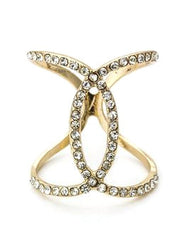 Crystal Fashion Ring- Gold