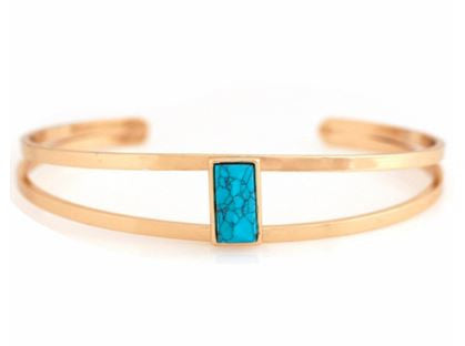 Marble Bar Cuff Bracelet- Turquoise