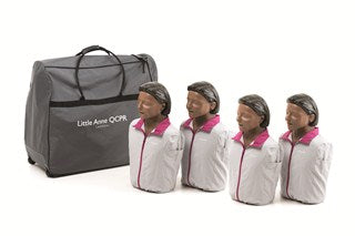 Little Anne Manikin QCPR Dark - 4 Pack