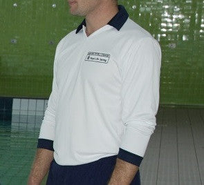 Pool Staff Polo Shirt Long Sleeve White