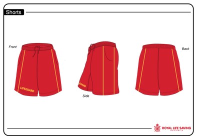 Lifeguard Shorts - Red