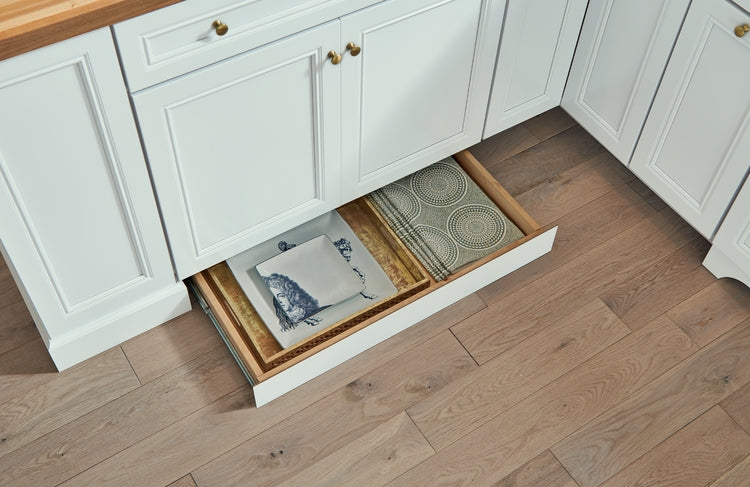 Hidden Toe Kick Drawer by KraftMaid Cabinetry - Woodwork Solutions