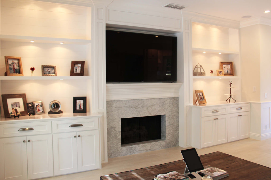 custom cabinetry wall units from Woodwork Solutions Orange County
