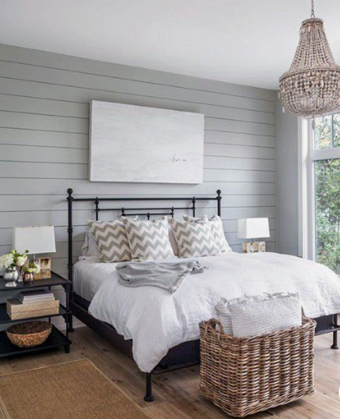 shiplap accent wall for bedrooms