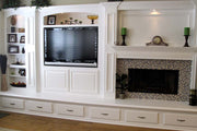 Paint Grade Entertainment Center and Fireplace Mantel