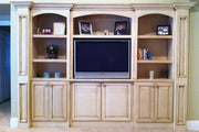 Antiqued Finish Bedroom Entertainment Center