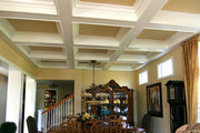 Custom White Coffered Ceiling
