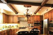 Faux Finished Kitchen Cabinets With Faux Beams