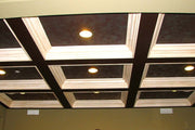 Beamed Coffered Ceiling With Two Tone Finish