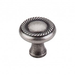 Swirl Cut Knob Pewter Antique