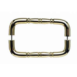 Nouveau Ring Door Pull Polished Brass