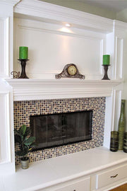 Paint-Grade Mantel with Wainscot Square