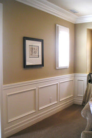 "Paint-Grade Recess Panel Wainscot At 36"" Tall"