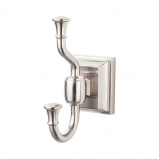 Stratton Bath Double Hook Brushed Satin Nickel