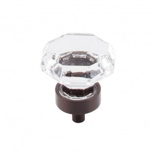 Clear Octagon Crystal Knob Oil Rubbed Bronze Base
