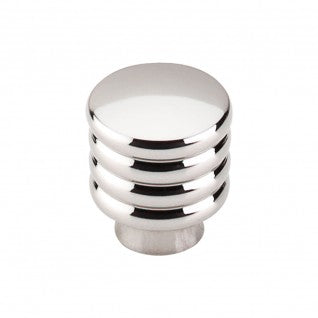 Modern Deco Knob Polished Nickel