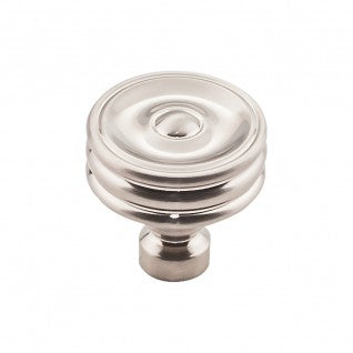 Brixton Ridged Knob Brushed Satin Nickel