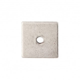 Square Backplate Pewter Antique