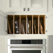 > Cookware + Tray Cabinetry