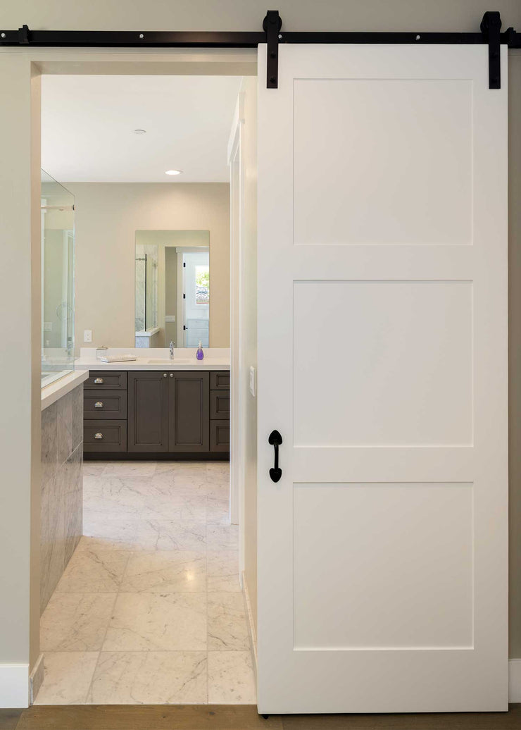 Barn Door - White Craftsman Style
