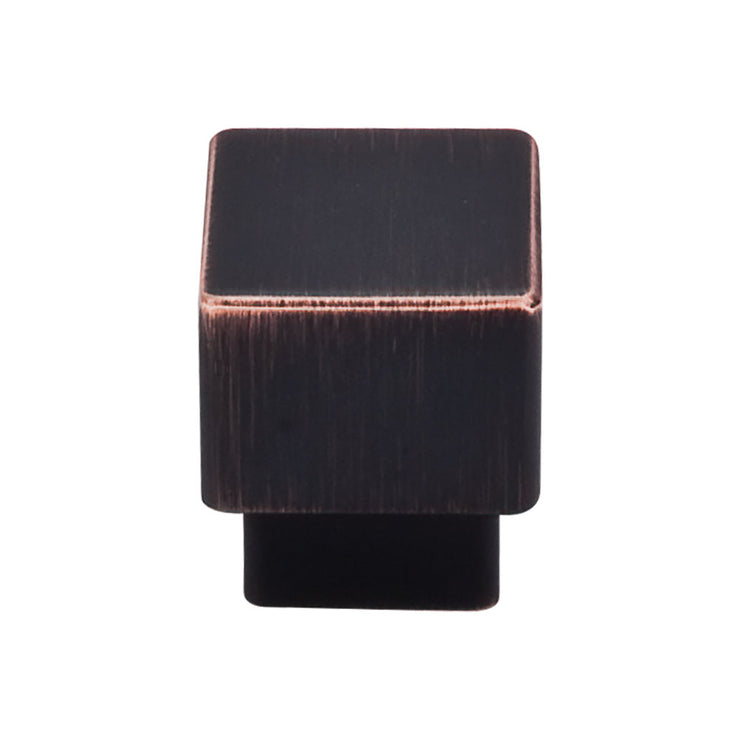 Tapered Square Knob Tuscan Bronze