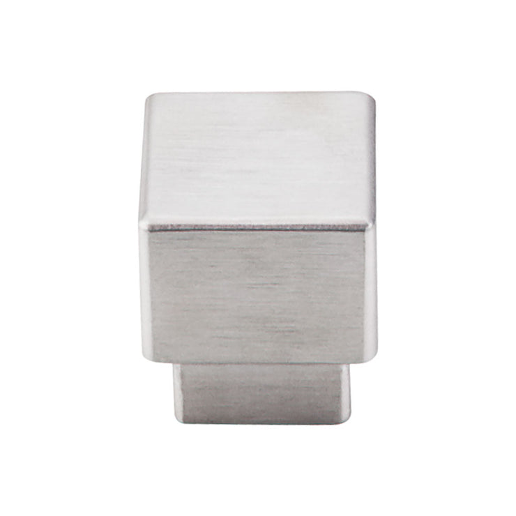 Tapered Square Knob Brushed Stainless Steel