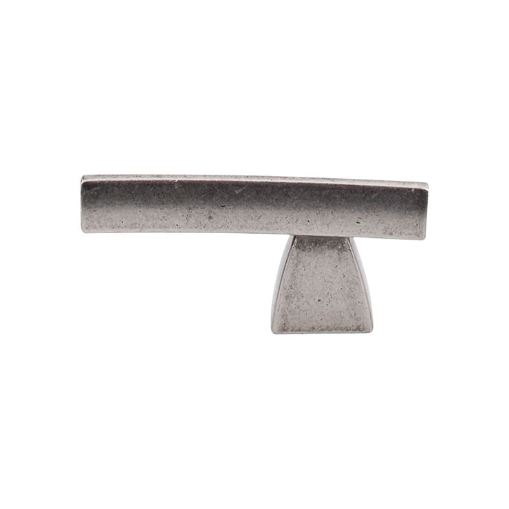 Arched Knob/Pull Pewter Antique