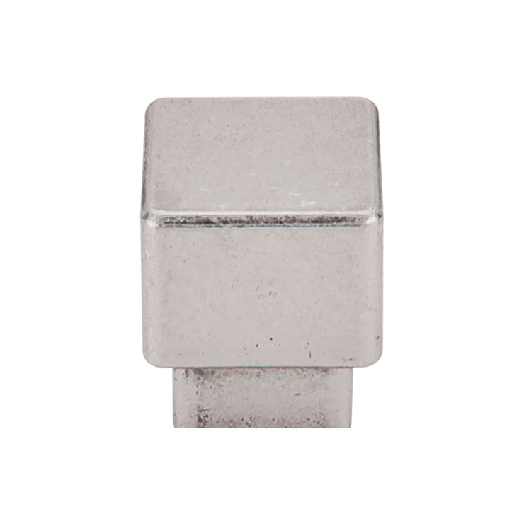 Tapered Square Knob Pewter Antique