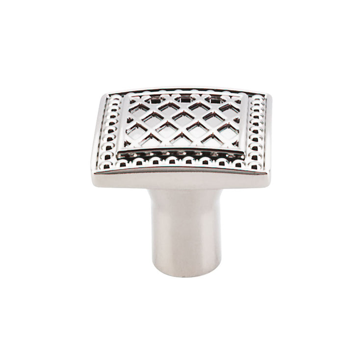 Trevi Square Knob Polished Nickel