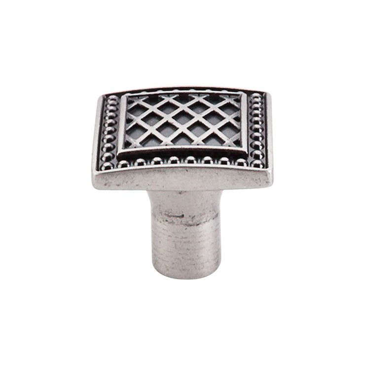 Trevi Square Knob Pewter Antique
