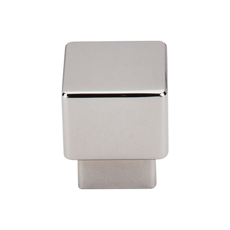 Tapered Square Knob Polished Nickel