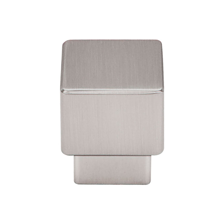 Tapered Square Knob Brushed Satin Nickel
