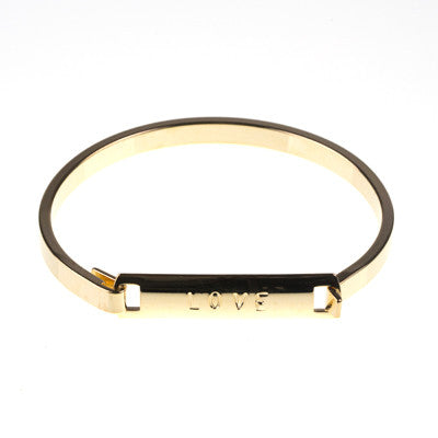 """Love"" Clip Bangle"