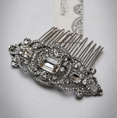Diamonte Art Deco Hair Comb