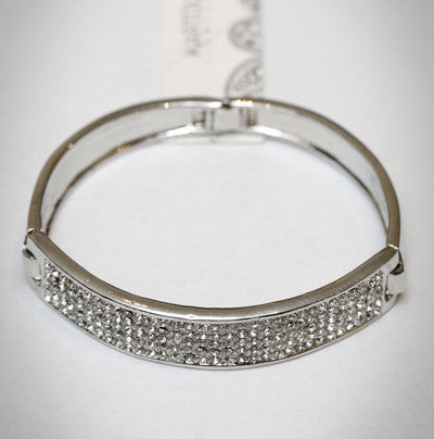 Silver Bangle with Pave setting