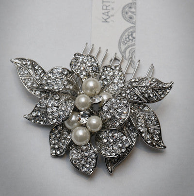 Pearl and Diamonte Hair Comb