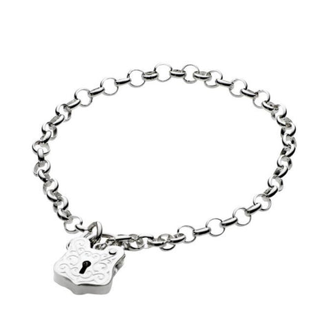 Baby Bracelet with detailed Padlock