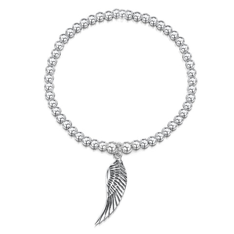 Angel Wing Charm Ball Bracelet