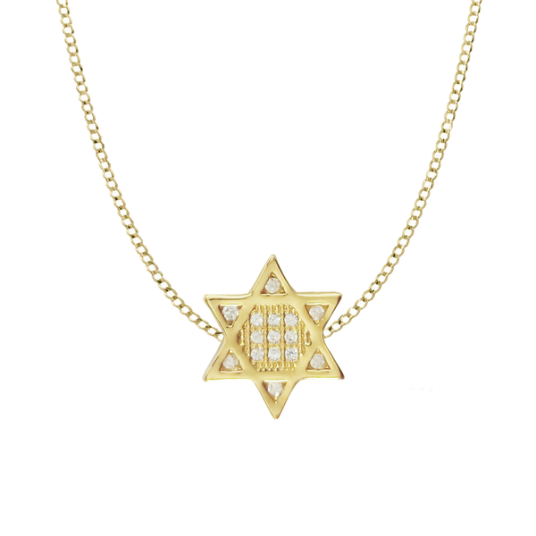 CADENA GOLD FILLED - MAGEN DAVID PEQUEÑA