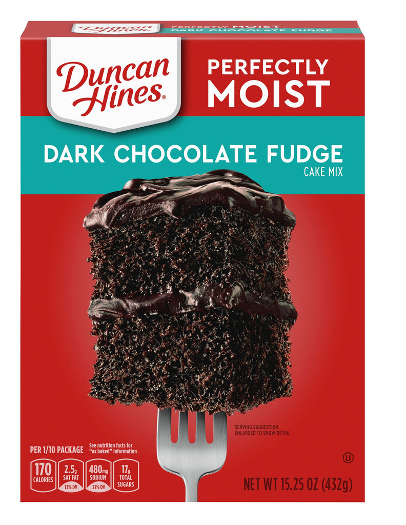 DARK CHOCOLATE FUDGE - DUNCAN HINES - CAKE MIX