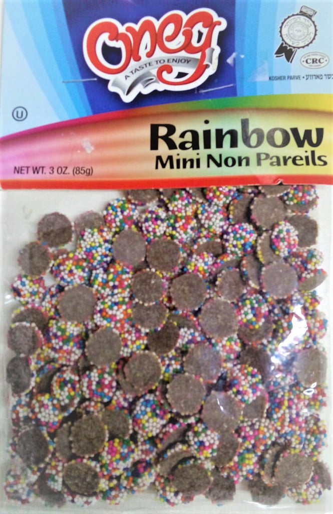MINI CHOCOLATES ONEG CON LLUVIA DE COLORES PARVE