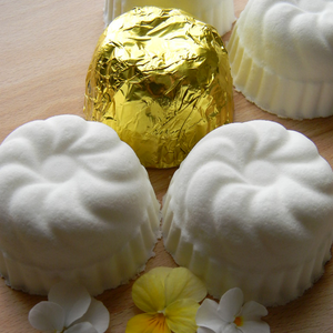 Photograph of bath bombs made with essential oils