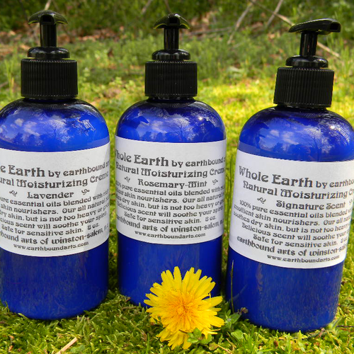 Photograph of bottles of Whole Earth natural moisturizing creme