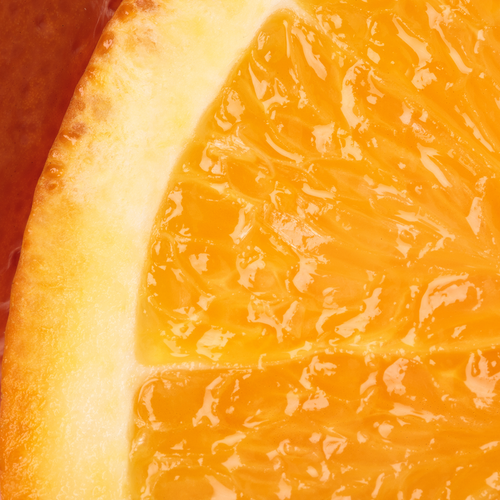 Photograph of a sliced orange