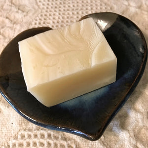 Photograph of a bar of Earthbound Arts tea tree peppermint soap